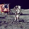 Cernan Jump Salutes Flag (NASA on The Commons) Tags: americanflag rover lm moonwalk challenger lrv lunarmodule genecernan apollo17 eugenecernan lunarrovingvehicle tauruslittrow