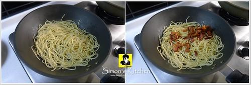 培根炒黑胡椒醬波菜義大利麵06