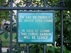 en cas de tempete, ce jardin sera ferme (Simon_K) Tags: paris france sartre parisian germain francais parisien pariswander pariswanderblogspotcouk stgermandesprs