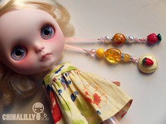 Custom Pulls (china-lilly *no FMs*) Tags: beads doll ribbon blythe neo custom charms takara pulls chinalilly