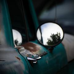 tried & true (dotintime) Tags: door old true truck handle mirror friend rust view rear pickup restoration primer tried meganlane romanticized dotintime