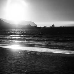 playa Ferrol (Explore 2013-09-16) (ines valor) Tags: bw atardecer galicia blinkagain