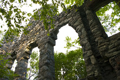 Remains (Megan Colleen) Tags: old windows castle abandoned overgrown stone architecture woods decay branches arches mansion vanslyke