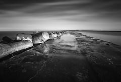 """ JETTY "" (Wiffsmiff23) Tags: reflection jetty tide seawall porttalbot seadefences wetfeet"