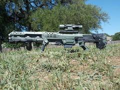 Nerf Longshot CS6 Custom (lawndart) Tags: green mod gun rifle halo scifi custom nerf longshot