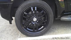 "Nissan Pathfinder alloy wheel repair mirror black We Fix Alloys • <a style=""font-size:0.8em;"" href=""http://www.flickr.com/photos/75836697@N06/10378686806/"" target=""_blank"">View on Flickr</a>"