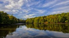 Autumn reflection (AGB Photography) Tags: autumn reflection colors gardens river landscape nikon colours seasons stourhead changes d7000 agbphotography