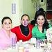 Brenda Figueroa, Reyna Mandujano y Carolina García.