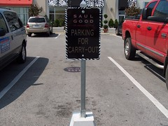 Carry-Out Parking Sign | Signarama Lexington, KY | Saul Good