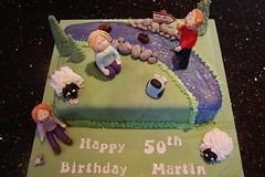 Inn At Whitewell River cake (Victorious_Sponge) Tags: birthday mountain cake river inn hiking scene the whitewell