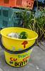 Butts Only! (Jocey K) Tags: newzealand christchurch plants signs bucket nz cbd gapfiller thepalletpavilion formercrowneplazasite