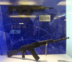 L85A1 bullpup rifle and AK-74 assault rifle (gunman47) Tags: china museum army gun republic force military air rifle navy taiwan ak weapon taipei   74 tw weapons forces firearm firearms armed  ak74  bullpup   l85a1