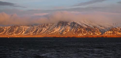 Esja Mountain at Sunset