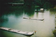 - (nahtahhlee) Tags: lake nature water river boats holga lomography pond singapore singaporezoo holga135bc