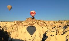 Cappadocia ballooning (H McCann) Tags: beautiful june rock sunrise turkey balloons landscape fly amazing view hotair ballon balloon flight surreal helium vista geology float cappadocia formations kapadokya fairychimneys 2013 uploaded:by=flickrmobile flickriosapp:filter=nofilter