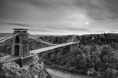 Clifton Suspension Bridge LE (~g@ry~ (clevedon-clarks)) Tags: uk longexposure bridge bw bristol mono blackwhite nikon le clifton cliftonsuspensionbridge isambardkingdombrunel thesouthwest garyclark