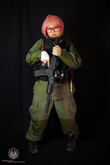 Mil!Mirai @ So Say We All (saroston) Tags: pink anime hair photography glasses all cosplay military rifle version we g5 pistol beyond boundary say colt mirai airsoft ghk m1911 so
