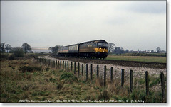 47555 'The Commonwealth Spirit',  Nibley,  April 6th 1989. (Bristol RE) Tags: brush 47 nibley class47 type4 47126 thecommonwealthspirit 47555 icda {vision}:{mountain}=0574 {vision}:{outdoor}=0974 {vision}:{sky}=0715