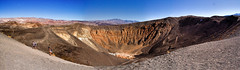 Ubehebe Crater Panorama (Trudy -) Tags: california nature beautiful wonder outdoors crater deathvalley unusual ubehebecrater vision:mountain=081 vision:outdoor=099 vision:sky=0843