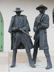 2014-020307N (bubbahop) Tags: arizona usa statue tucson trainstation depot holliday doc wyatt earp 2014 amtraktrip sunsetlimited