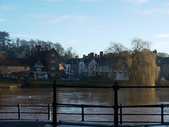 Bewdley On Severn looking east (Louise and Colin) Tags: old uk bridge houses winter england english heritage history sunshine fence buildings town britain january eu bluesky riversevern explore british worcestershire lovely storms floods bewdley flickrexplore explored louiseenglish winter2014