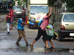Holi 2014 (santosh.wadghule) Tags: playing colors children maharashtra holi pune colurs rangpanchami dhulivandan