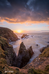 Burgh Island Sunset (macdad1948) Tags: devon waves sea burghisland sunset hotel seatractor bigburyonsea surf bigbury coast artdeco cliffs rocks art deco burgh island