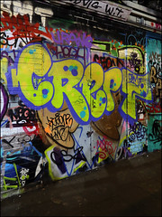 Crept (Alex Ellison) Tags: crept cbm leakestreet southlondon waterloo urban graffiti graff halloffame hof thetunnel boobs
