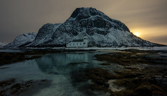 iglesia_pacofarero (el_farero) Tags: unstad church lofoten norway noruega seascape sunset canon mark iv clouds low tide sun mysterious islas islands panoramic