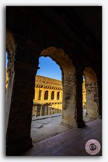 Corridors of famous Neemrana stepwell baori, Rajasthan