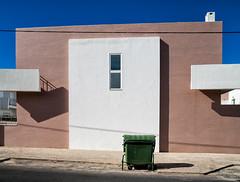 'Trash Talk' (Canadapt) Tags: house bin garbage street sidewalk wires graphic shadow loures portugal canadapt trash