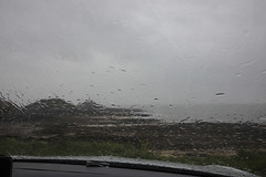 'A Hard Rain's A Gonna Fall'!! (Jo Evans1 - Off and on for a while) Tags: a hard rains gonna fall rain through windscreen car mumbles lighthouse fun shot