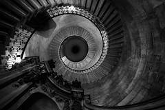 Pathfinder (JH Images.co.uk) Tags: london st pauls staircase spiral looking up bw blackandwhite church steps
