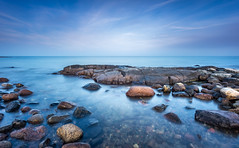 Just Blues (Kurt Evensen) Tags: norway longexposure bigstopper beach sea smooth leefilter le water tønsberg sky seascape rockyshore weather vestfold shore no