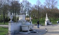 Wasserbassin Park Sanssouci Potsdam. (h.zuklampen) Tags: outdoor schönwetter park sanssouci wasserbassin fontäne brunnen marmor skulpturen barock denkmal statue