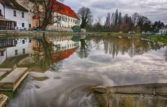 Old Budweis (derfidelio) Tags: altbudweis moldau spiegelungen vltava