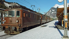 Re 4/4 171 (BLS + Basel) Tags: bls re44 re425 kandersteg lötschberg nordrampe eisenbahn fahrzeug zug lokomotive