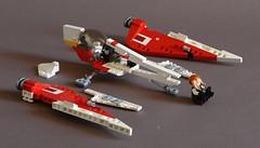 Delta-7 Aethersprite - Breakdown (Sydag) Tags: lego moc howto jedi starwars space scifi starfighter aethersprite delta7 episodeii clonewars