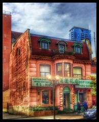 Chinatown! (Sherrianne100) Tags: streetphotography streetscene colorful hdr oldbuilding chinatown montreal canada