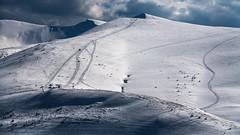 View from Dragobrat towards Bliznytsja peaks (-Visavis-) Tags: dragobrat blyznytsi carpathians westukraine snow skiing downhillskiing canoneos5d canonef24105mmf4lisusm offpiste spring clouds