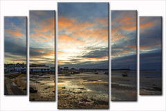 North Haven Yacht Club Sunset.....Wall Art..... (inkslinger15) Tags: beach clouds sandbanks sky surf water dorset