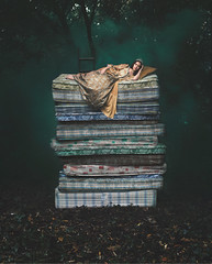 Princess and the Pea (Adele J Baron) Tags: adelebaronphotography adelebaron fairytale sleeping princessandthepea conceptual fineart fashion princess forest trees story fantasy storybook narrative wonderland smokebombs outdoor explore nature magical dress queen woods model portrait surreal canon timwalker