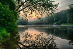 Morning-At-The-Pond (desouto) Tags: nature hdr landscape trees ponds sky colors sunrise green