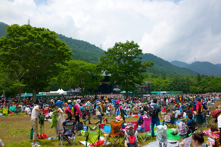 The Fuji Rock Festival is set amid a beautiful mountain backdrop