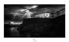 Bell tower Memorial (Ferritography) Tags: landscape cityscape seascape valletta black white port malta memorial war cloudscape bell tower germans grand harbour submarines bastions valour george cross ferritography the great siege stratigic location wwwferritographycom