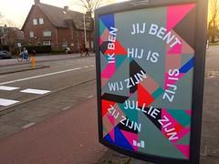 Cogito ergo ik ben (oobwoodman) Tags: netherlands nederland paysbas niederlande amsterdam effete poster plakat grammar grammatik conjugation holland dutch ikben