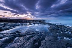 Dusk Shore at Bamburgh (Keith - Glasgow) Tags: shore beach england sunset waves coast sea reflections seascapes dusk landscapes bamburgh northumbria clouds unitedkingdom gb