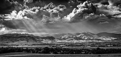 light and shadow (andy_8357) Tags: boulder valley sunbeams sunrays sun rays beams sony ilcenex ilce6000 alpha e pz 1650mm selp1650 cloudy clouds dramatic light contrast wideangle wide angle a6000 landscape colorado mountains foothills glorious reservoir continental divide shade shadow beautiful exalted trees blackandwhite bw monochrome blanco y negro blanc et noir noiretblanc breathtaking breath taking landscapes l