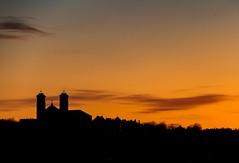 Silhouetted (Karen_Chappell) Tags: church sunset sky orange black city urban night clouds stjohns nfld newfoundland canada atlanticcanada avalonpeninsula skyline skyscape landscape