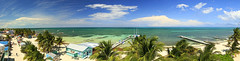 Caye Caulker Pano (Matt Champlin) Tags: belize 2017 canon pano travel centralamerica exotic beach paradise blue blues sand ocean caribbean amazing gorgeous peaceful nature landscape vacation holiday maya mayan